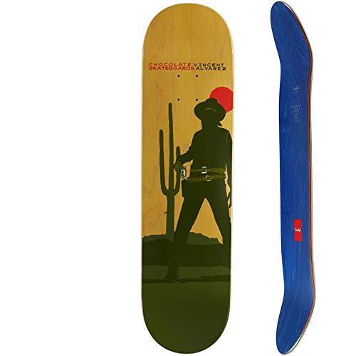(7プライ 8.25インチ)チョコレート CHOCOLATE スケートボード デッキ ALVAREZ HEXOX COWBOY DECK NO206