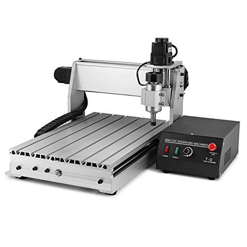 ZauberLu CNC Graviermaschine 3040T 3-Achsen Gravur Maschine Mit USB-Funktion 4MM Engraver Machine Fräsmaschine für Metall Glas Holz Stein
