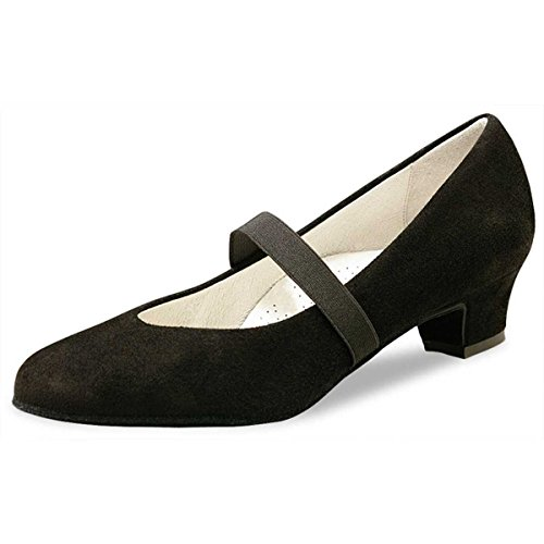 Werner Kern - Mujeres Zapatos de Baile Daniela - Ante Negro - 3,4 cm