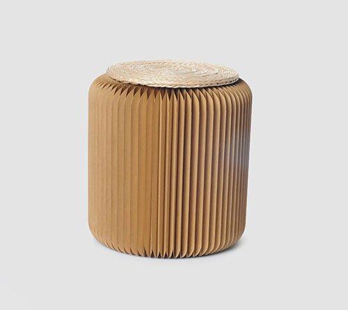 RSGK Multifunctionele Opvouwbare Protable Paper Kruk Moderne Papier Meubilair Kartonnen Stoel Voor Thuis, Feest, Vergadering En Buiten