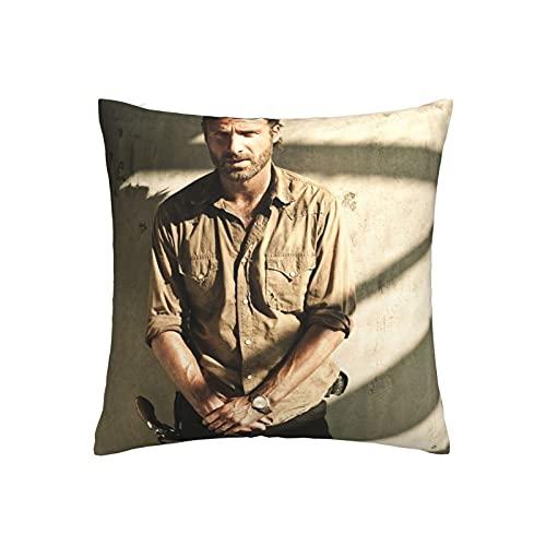 Funda de cojín The Walking Dead, funda de almohada decorativa para el hogar para hombres/mujeres, sala de estar, dormitorio, sofá, silla, 45 x 45 cm