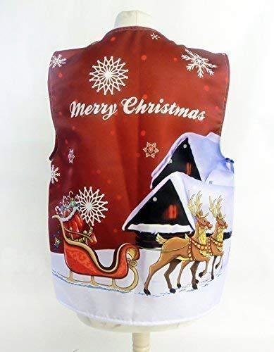 L&S PRINTS FOAM DESIGNS Santas Schlitten rot Design 2Weihnachten Design Weste Fun & Fancy für alle Anlässe Festival Parteien erhältlich S, M, L, XL, Größen erhältlich (Large 44–46–48)