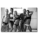 Hot Bodybuilding Fitness Motivational Girl Pintura Art Poster Print Lienzo Decoración para el hogar Imagen Impresión de pared-60x90cmx1pcs- Sin marco