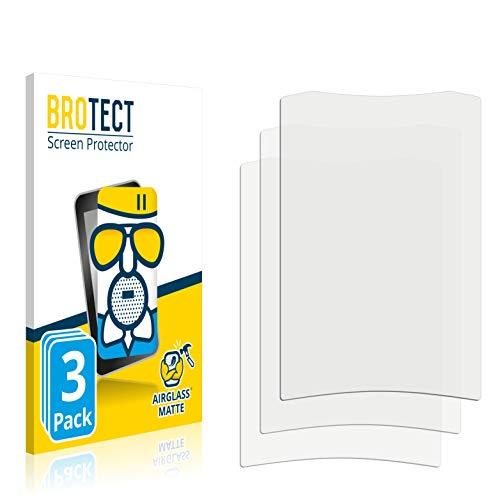 3X BROTECT AirGlass Matte Premium Glasfolie für Crivit Fahrradcomputer (extrahart, ultradünn, matt und entspiegelnd, Anti-Fingerprint, flexibel)