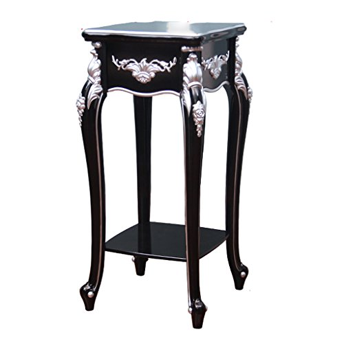 Style européen simple salon en bois multi-étages étagères à fleurs haut de gamme Club Bonsai vert radix orchidée Pots noir étagère (Couleur : Silver/40*89cm)