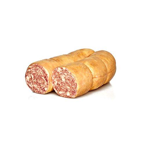 Mortadella de h igado cocida, Embutido típico italiano, mitad, Salumi Pasini1,6 Kg