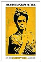 ポスター ボビー ヒル Kahlo 額装品 アルミ製ハイグレードフレーム(ホワイト)