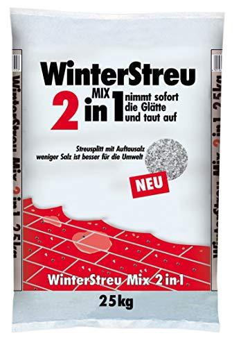 WinterMix 25 kg Streusalz + Streusplitt Deutsche Salinen Qualität Auftausalz TOP Qualität Winter Salz