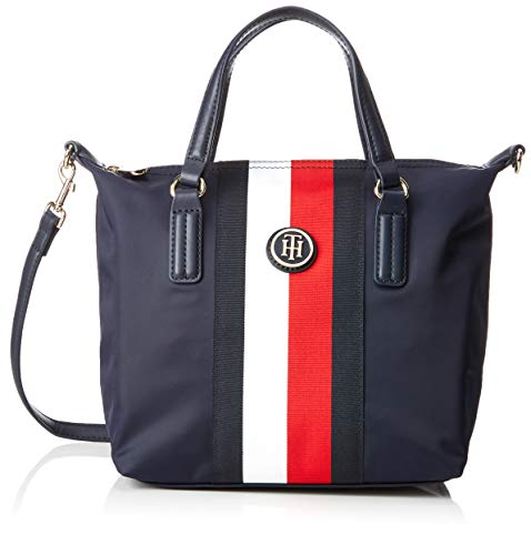 Tommy Hilfiger Poppy Small Tote STP, Borse Donna, Blu (Corporate), 23x15x22 centimeters (B x H x T)