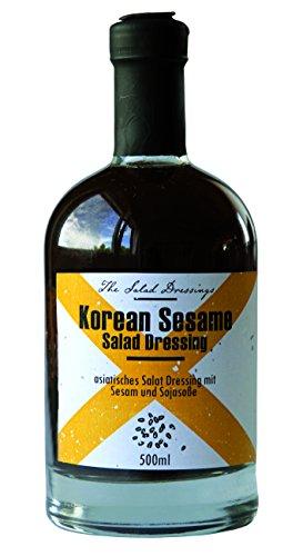 Korean Sesame Salad Dressing (500ml) – Salatdressing für Feinschmecker – asiatisches Sesam Wasabi Dressing – Feuer & Glas