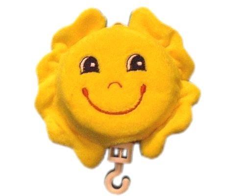 Bieco 21-000007a - Musik Spieluhr Sonne, mit Textilbezug gelb, Melodie Teddybär, Durchmesser: ca. 7 cm
