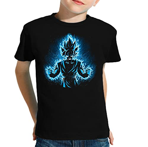 The Fan Tee Camiseta de NIÑOS Dragon Ball Goku Bola de Dragon Z Super Vegeta 178 11-12 Años