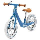 Kinderkraft Draisienne en Métal RAPID, Vélo sans Pédale, Style Rétro, Bleu