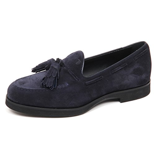 Tod's E4206 Mocassino Donna Blu Scarpe Nappine Suede Shoe Loafer Woman [35]