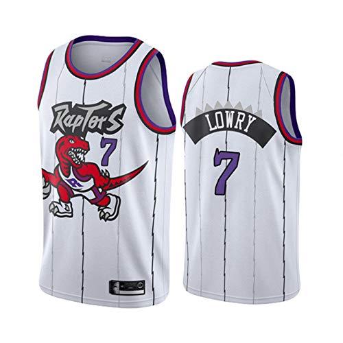 TPPHD Jerseys de Baloncesto de los Hombres, Raptores de la NBA # 7 Kyle Lowry Classic Swingman Jersey, Tela Respiradora Fresca Vintage Uniforme de Fan Unisex Unisex,L