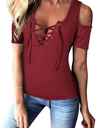 Yoins - Blusa sin mangas para mujer, diseño de encaje, estilo informal y sexy, ideal para el verano
