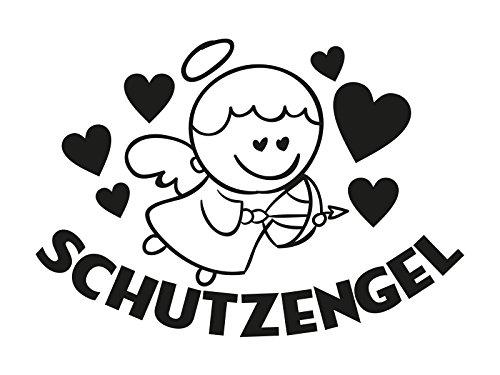 1 x Plott Aufkleber Schutzengel Schutz Engel Angel Sticker Heart Herz Tuning NEU