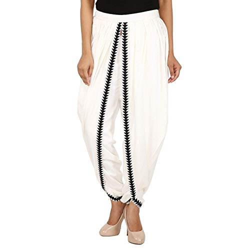 Navya Craft Off-White Color Rayon Dhoti Trouser, Dhoti Pant, Dhoti Salwar, Patiala Dhoti