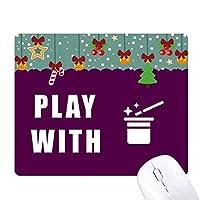 マジシャン、奇跡 ゲーム用スライドゴムのマウスパッドクリスマス