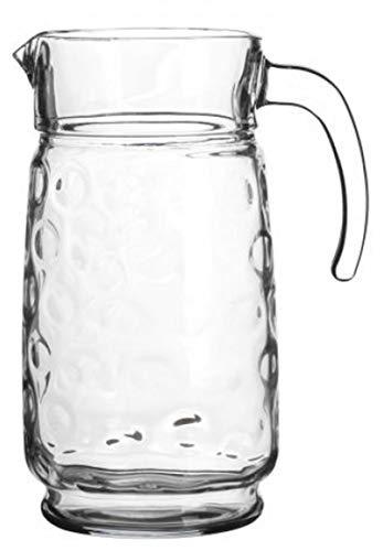 Pasabahce Anneaux en verre 1.7 litre Carafe à eau Pichet Carafe