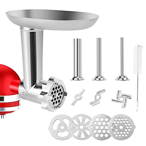 aikeec Accessori per tritacarne per Kitchen-Aid robot da cucina (ricambio), attacco per tubi di riempimento per salsicce per i robot da cucina KitchenAid serie Artisan e Professional