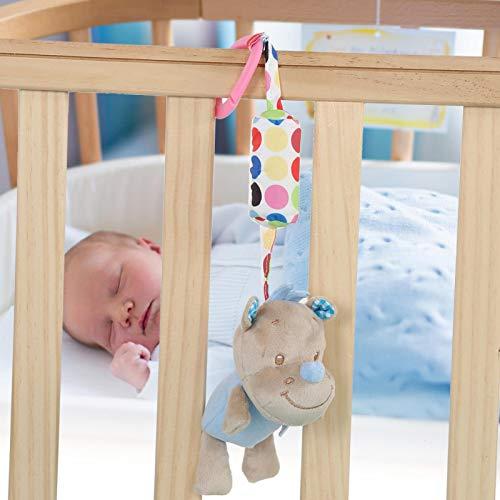 Juguete educativo, cochecito de juguete colgante de diseño único divertido para 0-3 años para evitar llorar para identificar colores(rhinoceros)