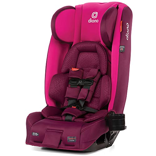 Diono 2020 Radian 3RXT, 4-in-1 Convertible, Extended Rear Facing, 10 Years 1 Car Seat, Fits 3 Across, Slim Fit Design, Purple Plum