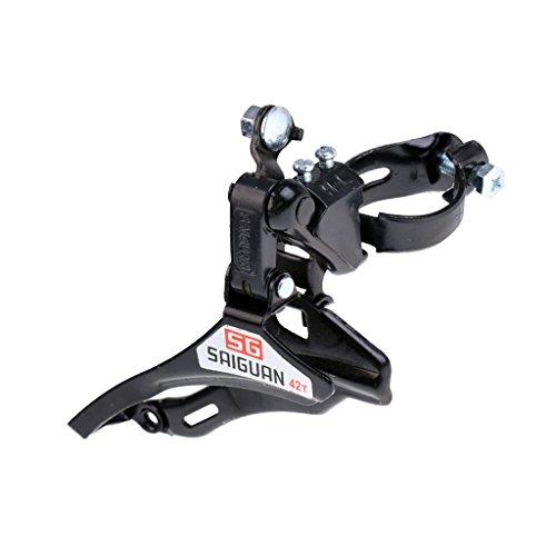 MagiDeal 31.8mm Pull Schaltwerk Fahrrad Schaltwerk für Gangwechsel - Schwarz - Schwarz - Obere Ziehen