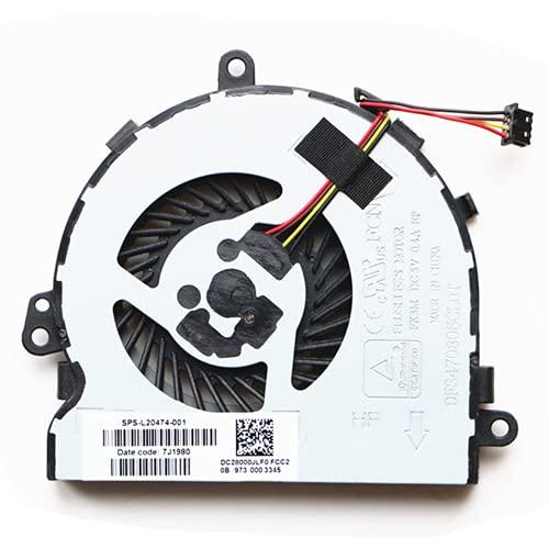 DENGHUXIE L20474-001 para HP 15-DB 15-AC 15-AY 15-AF 15-BF 15-BS 15-BW 15-BD 15g-ad 250G4 255G4 250 G5 255 G5 250 G6 250G6 255 G6. 50 G7. Ventilador de CPU 255 G7 256 G7 TPN-C125 TPN-C129 TPN-C130