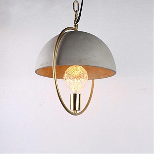 Lámpara LXZ Personalidad Creativo Cemento, Retro Viento Industrial Colgante para Restaurante Dormitorio Salón Escaleras Pasillo, A