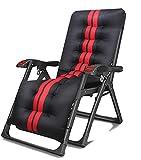 Silla mecedora de jardín con colchón reclinable plegable al aire libre ajustable tumbona basculante asiento de gravedad cero, B