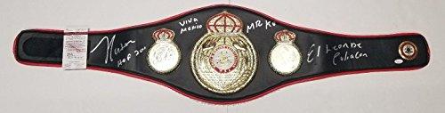 JULIO CESAR CHAVEZ Autographed WBA Full Size Leather Replica Boxing BELT. JSA - Autographed Boxing Championship Belts