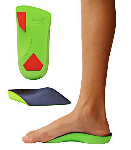 KidSole 3/4 Length Neon Shield Arch Support Insole for kids with foot pronation  flat feet  or any other undiagnosed arch support issues (Big Kids Size US 4-7.5)