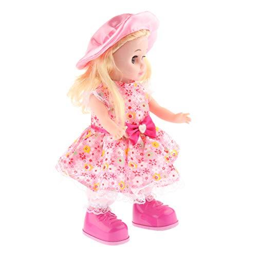 Interaktive Mädchen Puppe mit Tanzen und Sprechen Funktion, Tolles Geburtstagsgeschenk für Kinder ab 1 Jahre - C