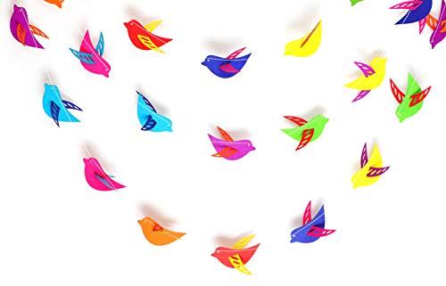 Rainbow 3 d Birds Garland 10ft Paper Garland, Birthday Party Decor, Wedding Shower Decor, Nursery Décor