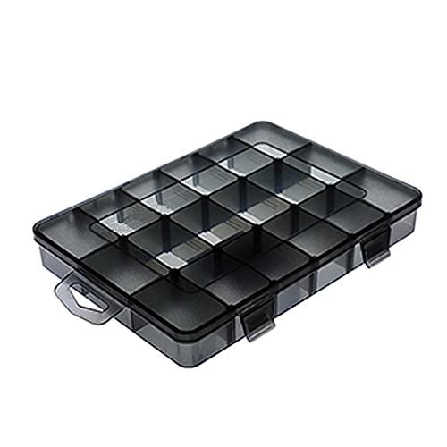 NIDONE Caja De Almacenamiento Caja De Joyería Joyería Organizador De Plástico con Pendiente Divisores Ajustables Contenedores De Almacenamiento De 18 Cuadrículas, M