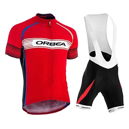 Conjunto Ropa Equipacion Traje Ciclismo Hombre para Verano, Maillot Ciclismo Hombre +...