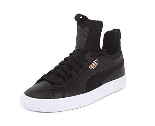 PUMA Womens Basket Fierce Black Black Sneaker - 7