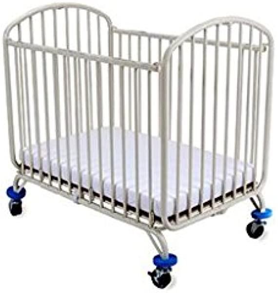 LA Baby The Folding Arched Mini Portable Crib White
