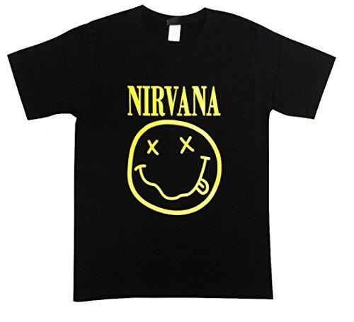 ニルヴァーナ/スマイル/カート・コバーン/NIRVANA/Tシャツ/ロックTシャツ/バンドTシャツ (L)