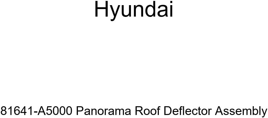 Genuine Hyundai 81641-A5000 Panorama Deflector Roof Year-end annual Time sale account Assembly