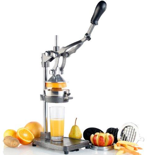 Rosenstein & Söhne Pommesschneider Gastro: Profi Gastro 3in1: Zitruspresse, Apfel-, Gemüse-, Pommes-Schneider, XL (Profi Pommesschneider)