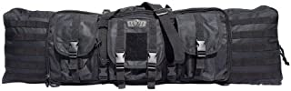 Gen-X Double Tactical Rifle Case w/Pack Straps and 3 outside Pouches, Black