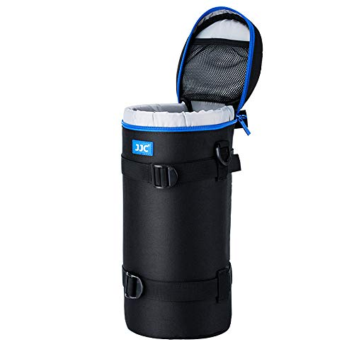 JJC Deluxe Objektiv Tasche mit 1 x Umhängeband, Wasserabweisend, Schwarz, passt Objektiv Durchmesser und Höhe unter 144 x 316mm (5.55 x 12.44)