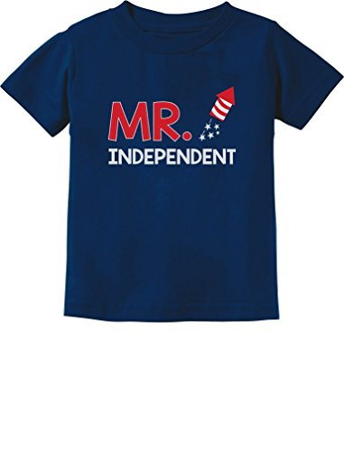 Mr. Independent Firecracker 4th of July Boys Toddler/Infant Kids T-Shirt 5/6 Navy