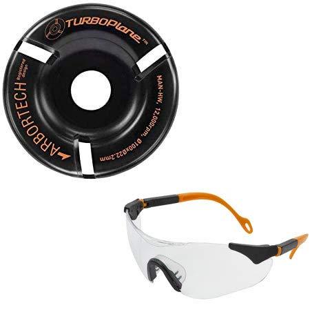 Arbortech Turbo Plane, incluye gafas de protección–Disco de fresado para madera / amoladora angular
