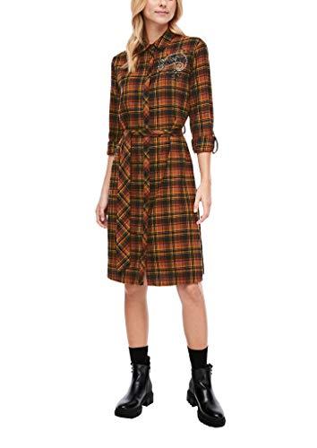 s.Oliver Damen Kleid kurz brown check 36