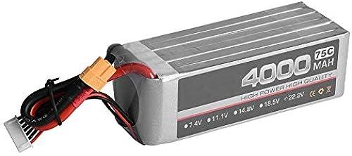 Dilwe 22,2 V LiPo-Batterie, Power 4000mAh 75C XT60 Stecker wiederaufladbare LiPo-Batterie für RC-Auto   Flugzeug   Stiefel