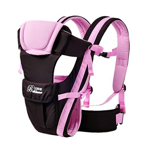 Babytrage Neugeborene ab geburt 3 in 1 Ergonomische Baby Bauchtrage Rückentrage Leicht Babytrage Hüftsitz Baby Tragesystem Rücken bis 20kg für 0 - 36 Monate Baby Carrier Rucksack (Pink , Onesize)