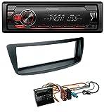 caraudio24 Pioneer MVH-S110UB AUX MP3 USB 1DIN Autoradio für Citroen C1 Peugeot 107 Toyota Aygo 05-14